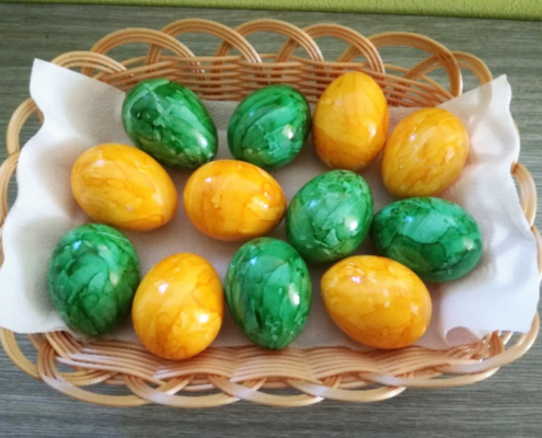 Barvená vejce velikonoční