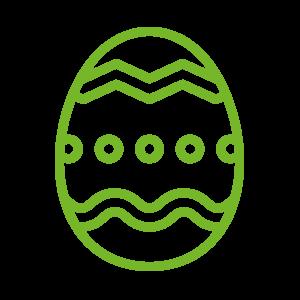 Vařená barvená vejce
